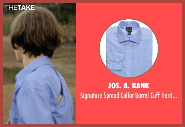 Jos. A. Bank blue shirt from Boyhood seen with Ellar Coltrane (Mason)
