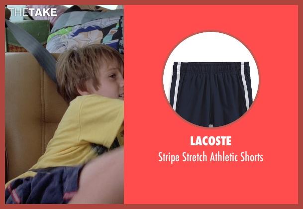 Lacoste blue shorts from Boyhood seen with Ellar Coltrane (Mason)