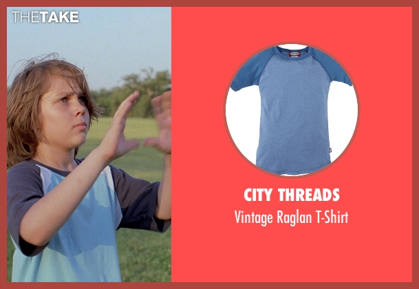 City Threads blue t-shirt from Boyhood seen with Ellar Coltrane (Mason)