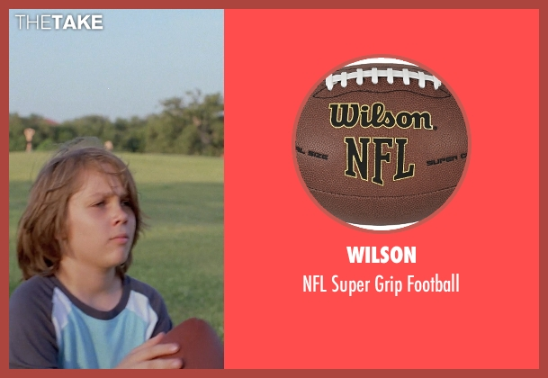 Wilson football from Boyhood seen with Ellar Coltrane (Mason)