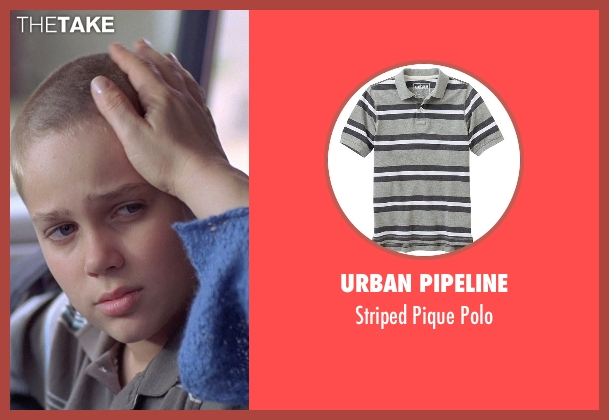 Urban Pipeline gray polo from Boyhood seen with Ellar Coltrane (Mason)