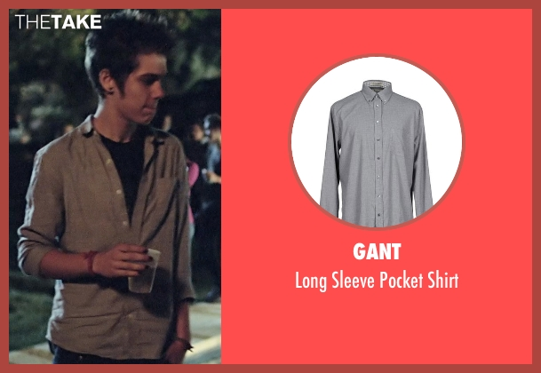 Gant gray shirt from Boyhood seen with Ellar Coltrane (Mason)