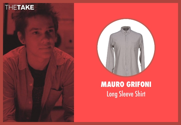 Mauro Grifoni gray shirt from Boyhood seen with Ellar Coltrane (Mason)