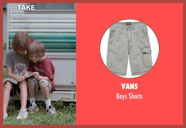 Vans gray shorts from Boyhood seen with Ellar Coltrane (Mason)