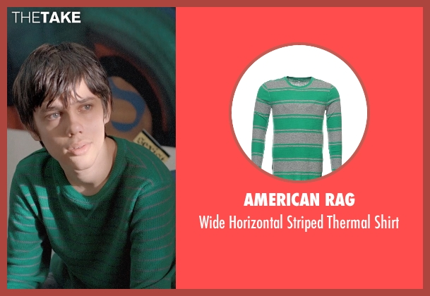 American Rag green shirt from Boyhood seen with Ellar Coltrane (Mason)