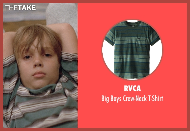 RVCA green t-shirt from Boyhood seen with Ellar Coltrane (Mason)