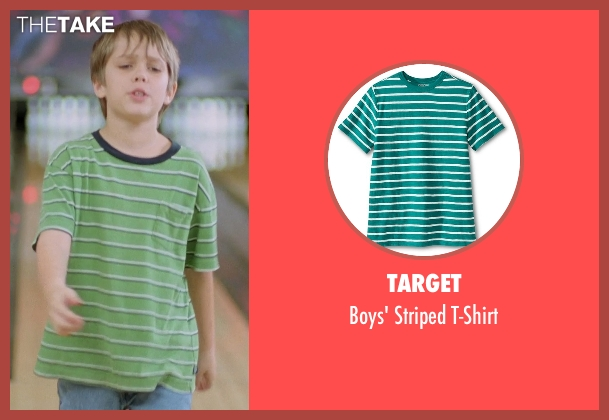 Target green t-shirt from Boyhood seen with Ellar Coltrane (Mason)