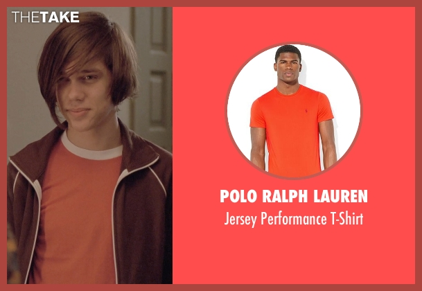 Polo Ralph Lauren orange t-shirt from Boyhood seen with Ellar Coltrane (Mason)