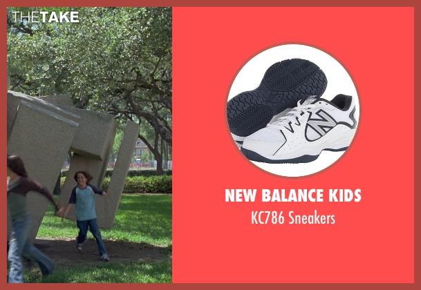New Balance Kids white sneakers from Boyhood seen with Ellar Coltrane (Mason)