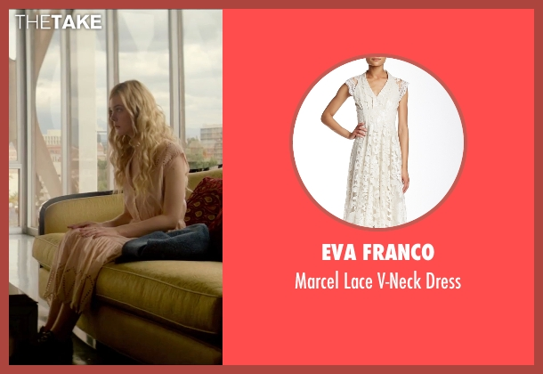 Eva Franco beige dress from The Neon Demon seen with Elle Fanning (Jesse)