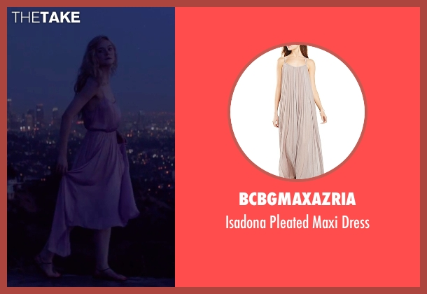 BCBGMAXAZRIA beige dress from The Neon Demon seen with Elle Fanning (Jesse)