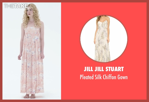 Jill Jill Stuart beige gown from The Neon Demon seen with Elle Fanning (Jesse)