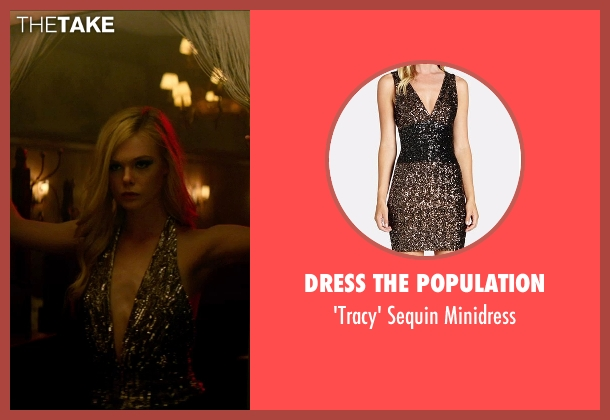 Dress the Population black minidress from The Neon Demon seen with Elle Fanning (Jesse)