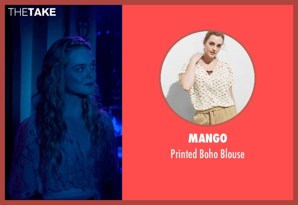 Mango white blouse from The Neon Demon seen with Elle Fanning (Jesse)