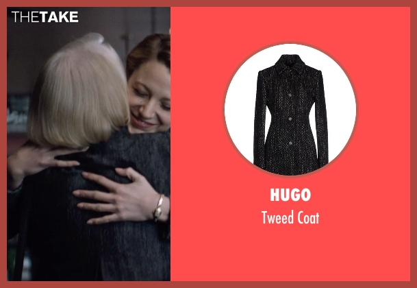 Hugo black coat from The Age of Adaline seen with Ellen Burstyn (Flemming)
