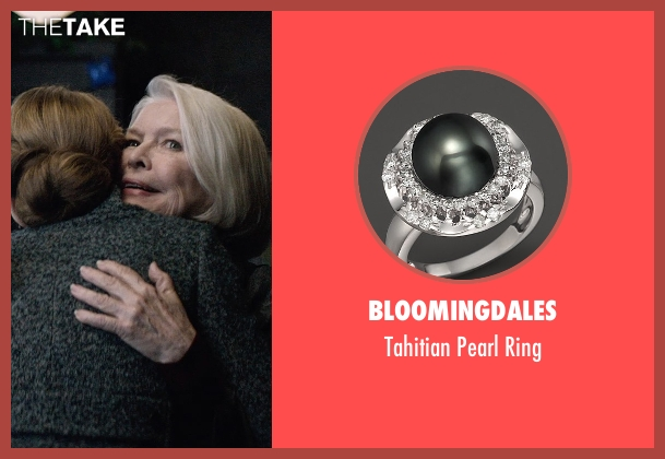 Bloomingdales black ring from The Age of Adaline seen with Ellen Burstyn (Flemming)