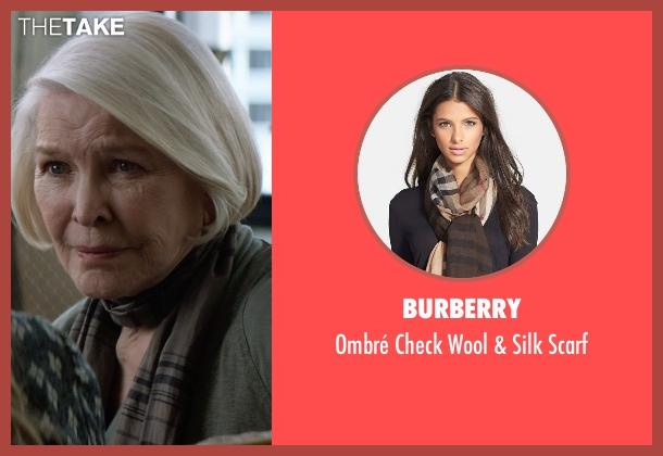 Burberry brown scarf from The Age of Adaline seen with Ellen Burstyn (Flemming)