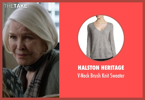 Halston Heritage gray sweater from The Age of Adaline seen with Ellen Burstyn (Flemming)