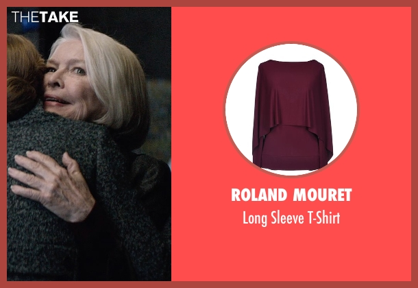 Roland Mouret red t-shirt from The Age of Adaline seen with Ellen Burstyn (Flemming)