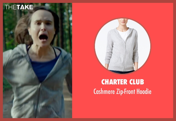 Charter Club gray hoodie from Into the Forest seen with Ellen Page (Nell)