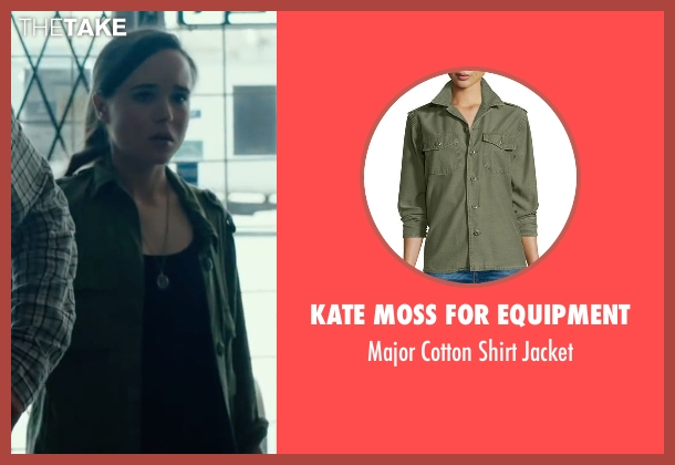 Kate Moss For Equipment green jacket from Into the Forest seen with Ellen Page (Nell)