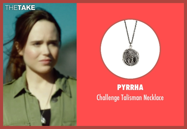 Pyrrha silver necklace from Into the Forest seen with Ellen Page (Nell)