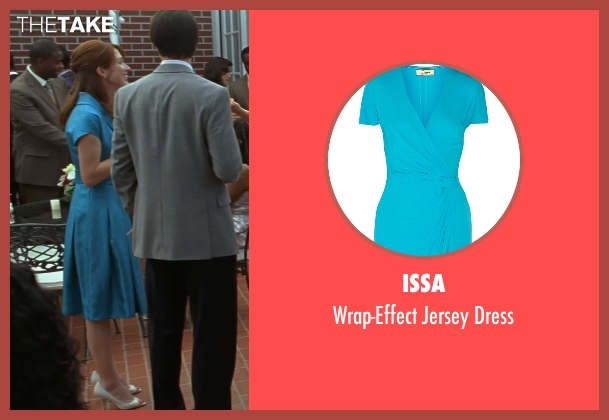 Issa blue dress from Bridesmaids seen with Ellie Kemper (Becca)