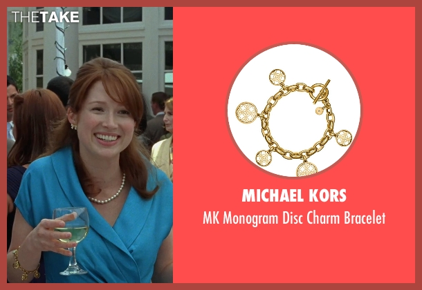 Michael Kors gold bracelet from Bridesmaids seen with Ellie Kemper (Becca)