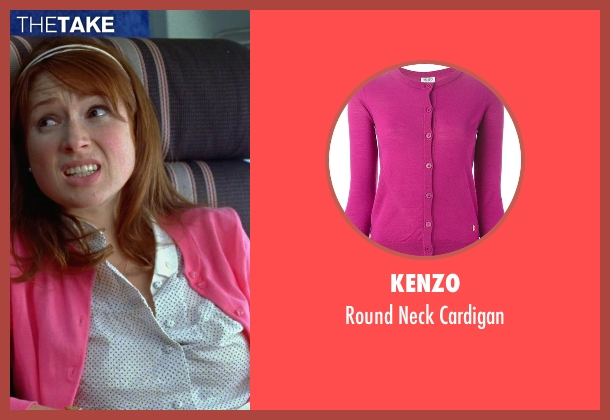Kenzo pink cardigan from Bridesmaids seen with Ellie Kemper (Becca)