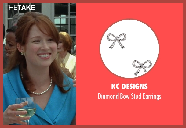 Kc Designs silver earrings from Bridesmaids seen with Ellie Kemper (Becca)