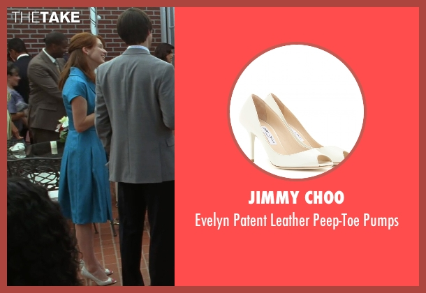 Jimmy Choo white pumps from Bridesmaids seen with Ellie Kemper (Becca)