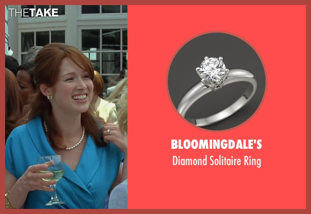 Bloomingdale's white ring from Bridesmaids seen with Ellie Kemper (Becca)
