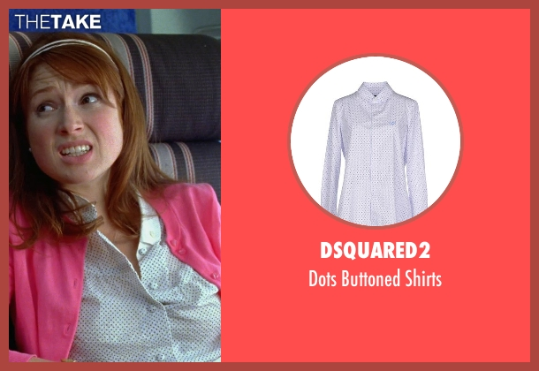 DSquared2 white shirts from Bridesmaids seen with Ellie Kemper (Becca)