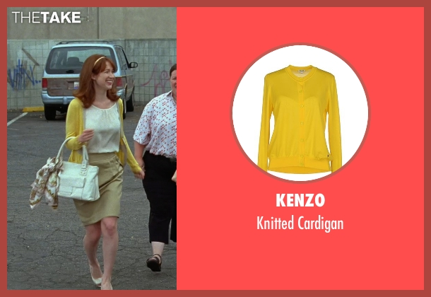 Kenzo yellow cardigan from Bridesmaids seen with Ellie Kemper (Becca)