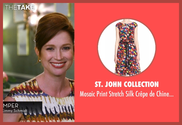 St. John Collection dress from Chelsea seen with Ellie Kemper