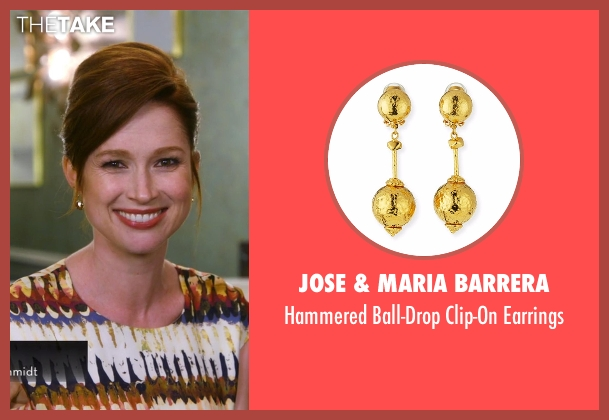 Jose & Maria Barrera gold earrings from Chelsea seen with Ellie Kemper