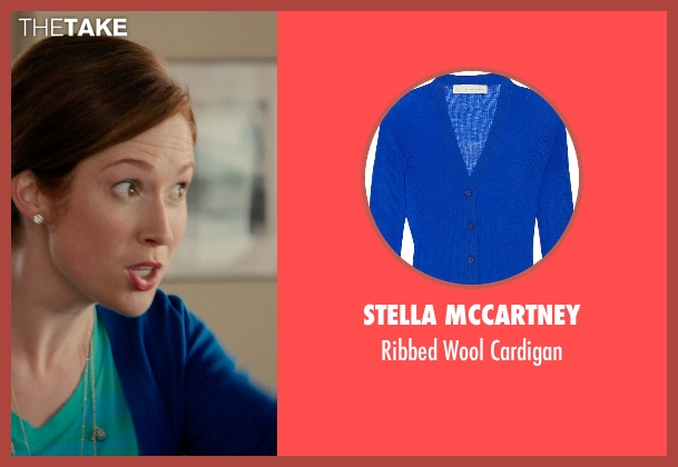 Stella Mccartney blue cardigan from Laggies seen with Ellie Kemper (Allison)