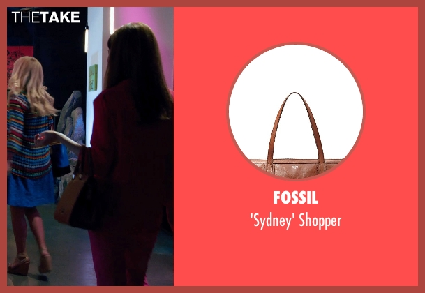 Fossil brown shopper from Laggies seen with Ellie Kemper (Allison)