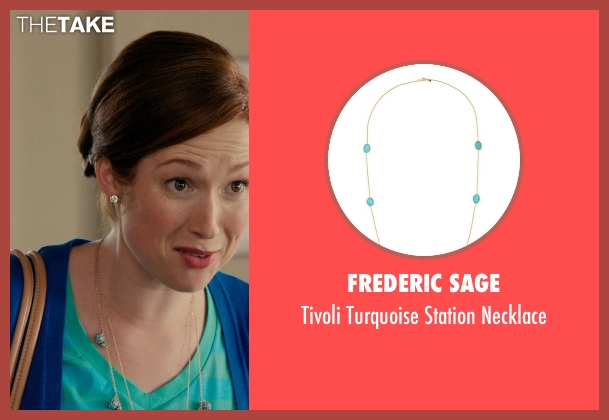 Frederic Sage green necklace from Laggies seen with Ellie Kemper (Allison)