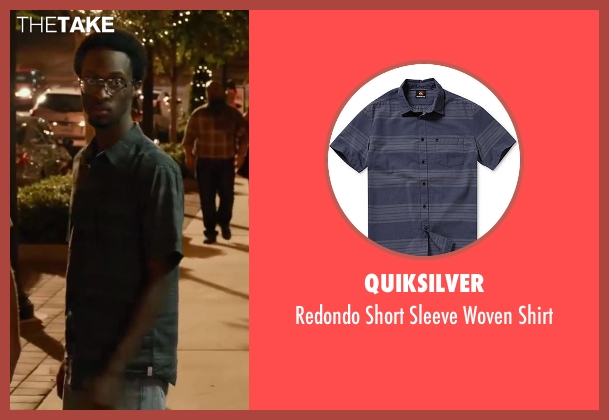 Quiksilver green shirt from Let's Be Cops seen with Elliott Dixon (Dude #2)