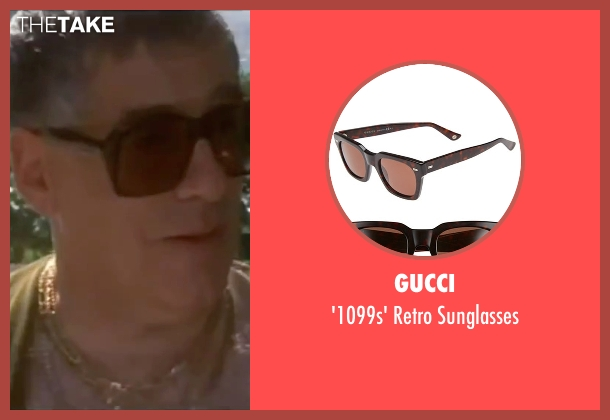 Gucci brown sunglasses from Ocean's Eleven seen with Elliott Gould (Reuben Tishkoff)