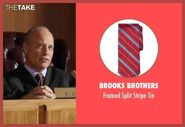 Brooks Brothers red tie from Get Hard seen with Elliott Grey (Judge)