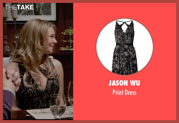 Jason Wu black dress from Fifty Shades of Grey seen with Eloise Mumford (Kate Kavanagh)
