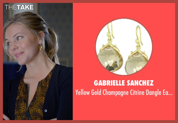 Gabrielle Sanchez gold earrings from Fifty Shades of Grey seen with Eloise Mumford (Kate Kavanagh)