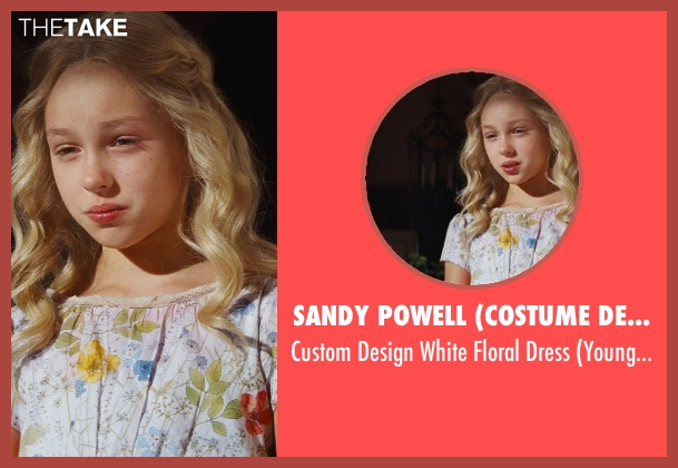Sandy Powell (Costume Designer) white dress from Cinderella seen with Eloise Webb (Young Ella)