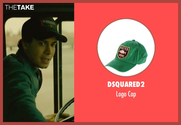 DSquared2 green cap from A Most Violent Year seen with Elyes Gabel (Julian)