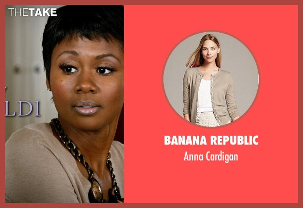 Banana Republic beige cardigan from Addicted seen with Emayatzy Corinealdi (Brina)
