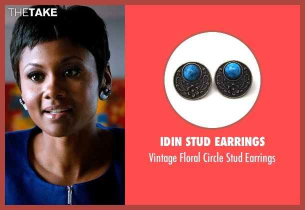 Idin Stud Earrings black earrings from Addicted seen with Emayatzy Corinealdi (Brina)