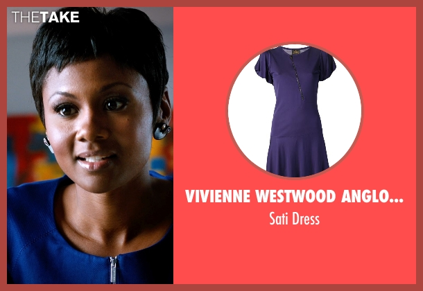 Vivienne Westwood Anglomania blue dress from Addicted seen with Emayatzy Corinealdi (Brina)