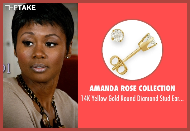 Amanda Rose Collection gold earrings from Addicted seen with Emayatzy Corinealdi (Brina)